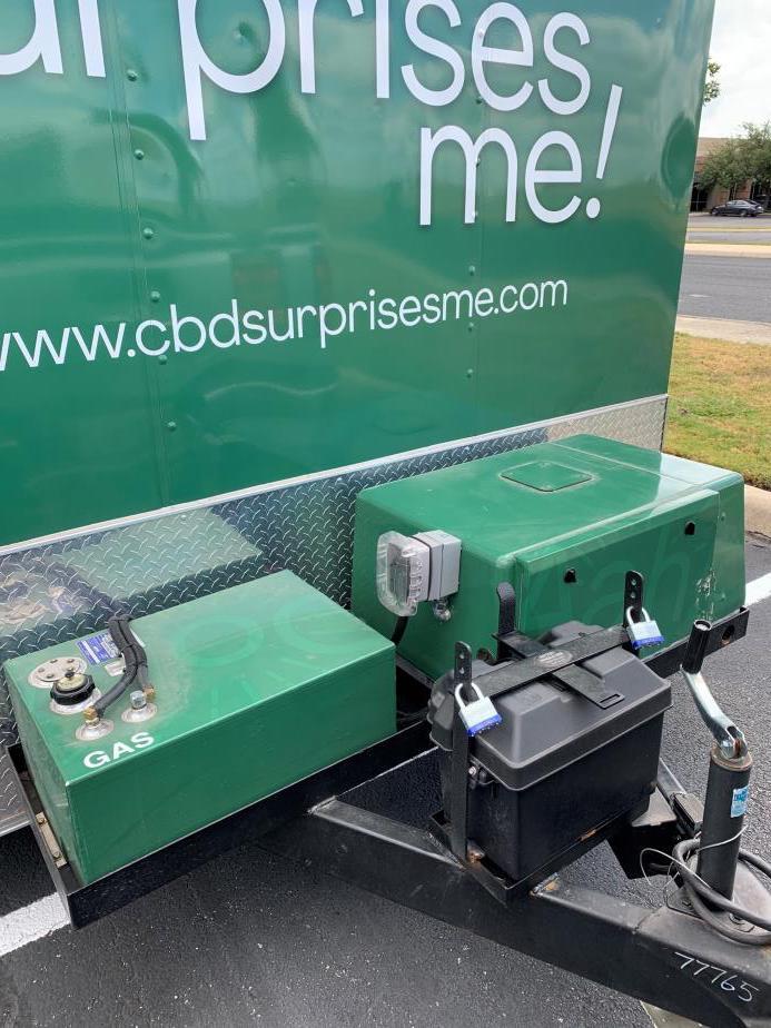 Sampling trailer nose mounted generator