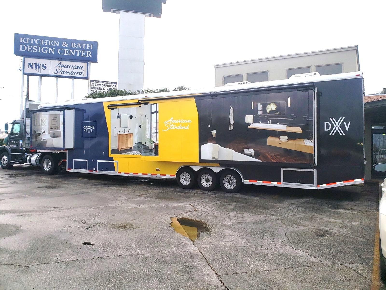 custom marketing trailer driver side