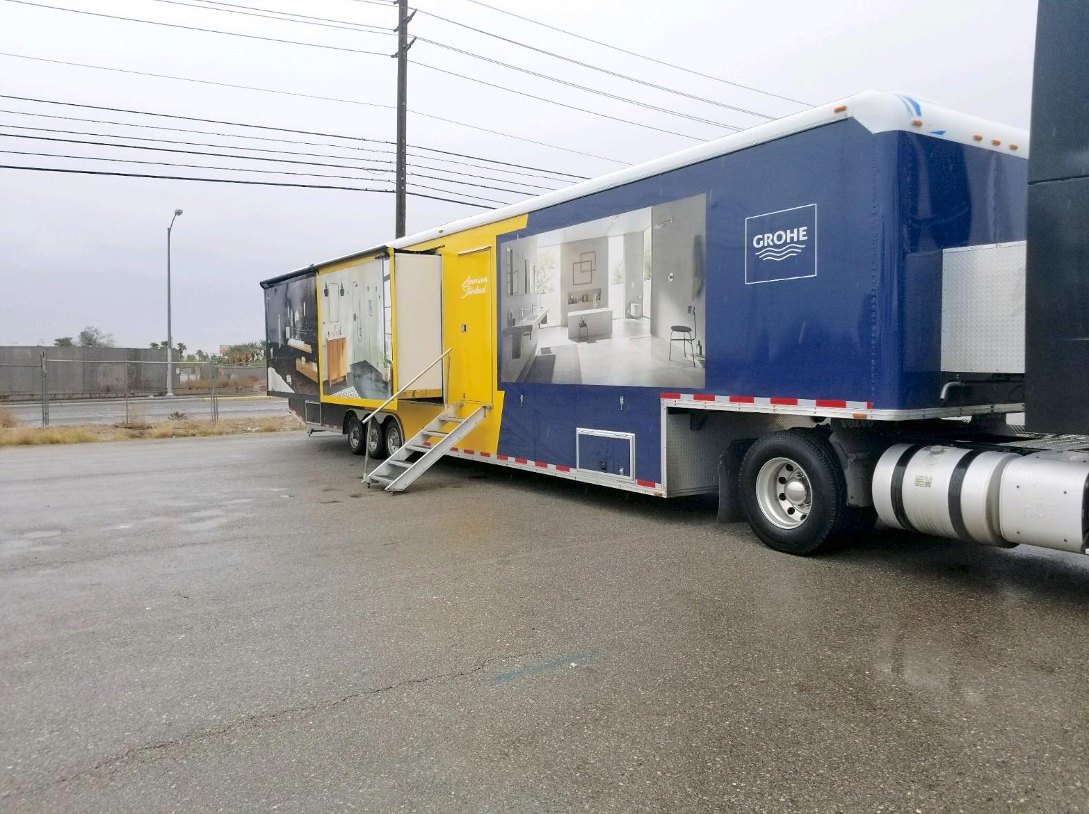 custom marketing trailer open