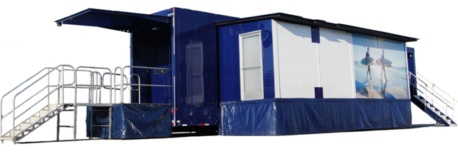 Double Expandable trailers create large impact and leave a memorable impression.