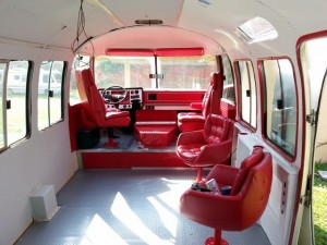 Marketing Bus Interior After