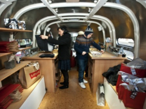levi's gift wrapping trailer