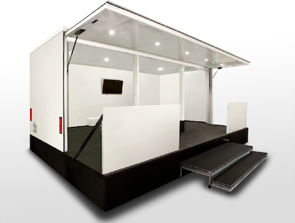 small mobile pop-up store trailer