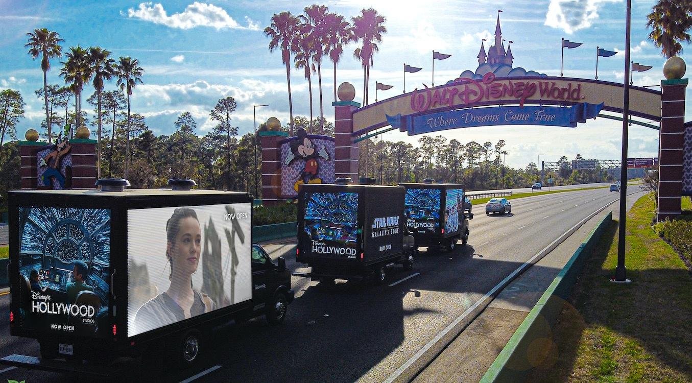 LED truck fleet daytime disney