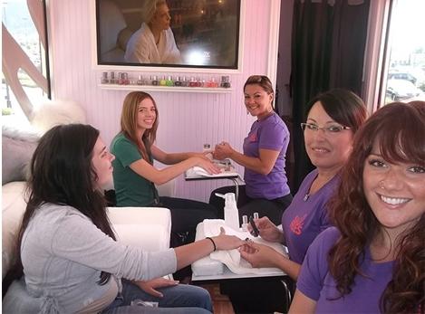 glass truck nail salon