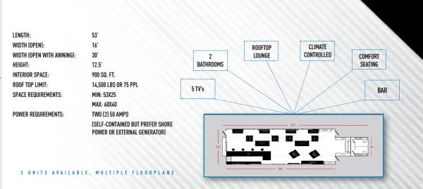 Vip Lounge layout diagram