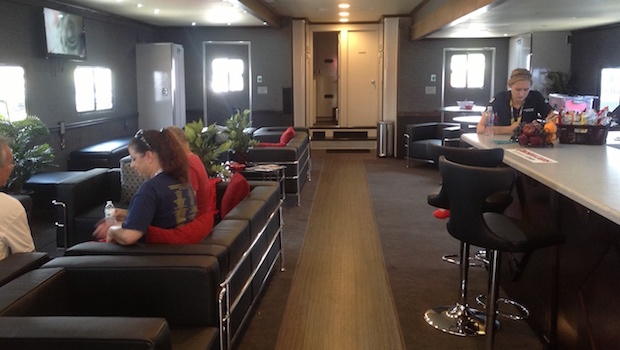 large Mobile Corporate hospitality Luxury lounge