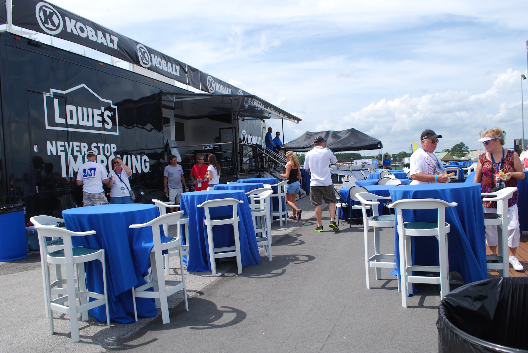 corporate event tailgating trailer