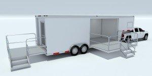 rendering for custom marketing stage trailer