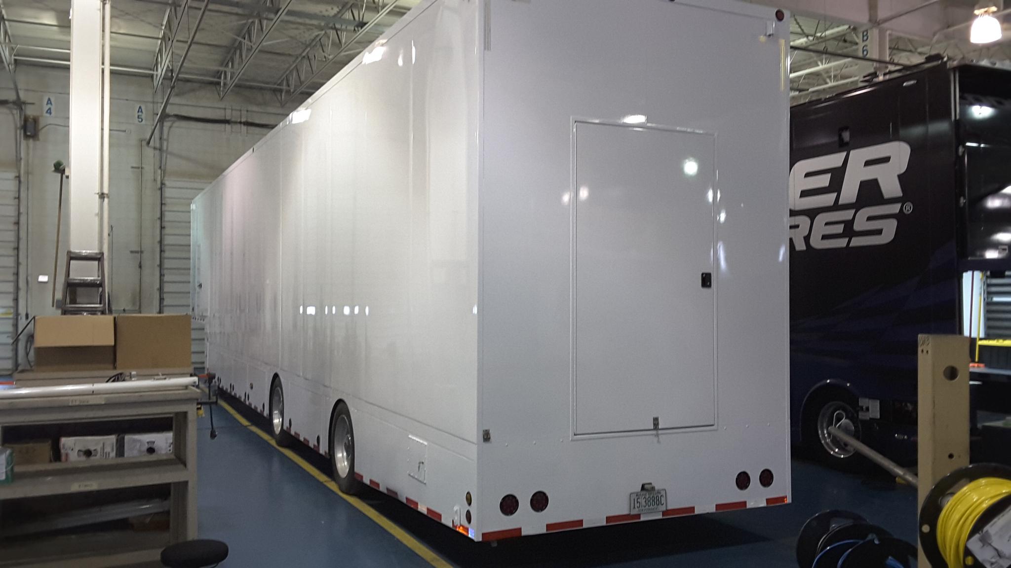 Craftsmen stage trailer rear