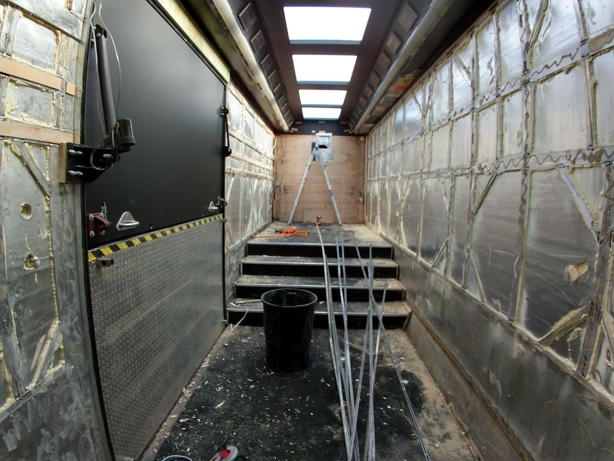 double decker interior rear facing