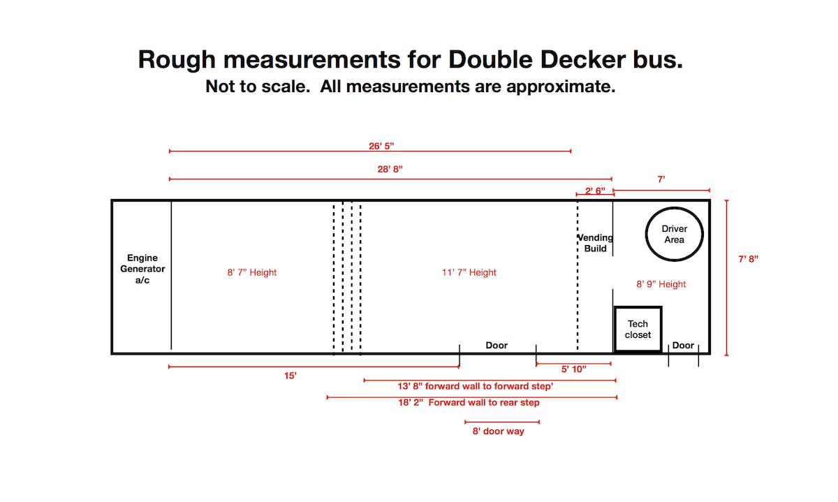 double decker bus dimensions