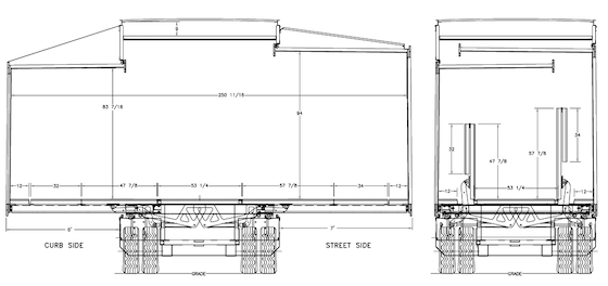 double expandable trailer floor diagram