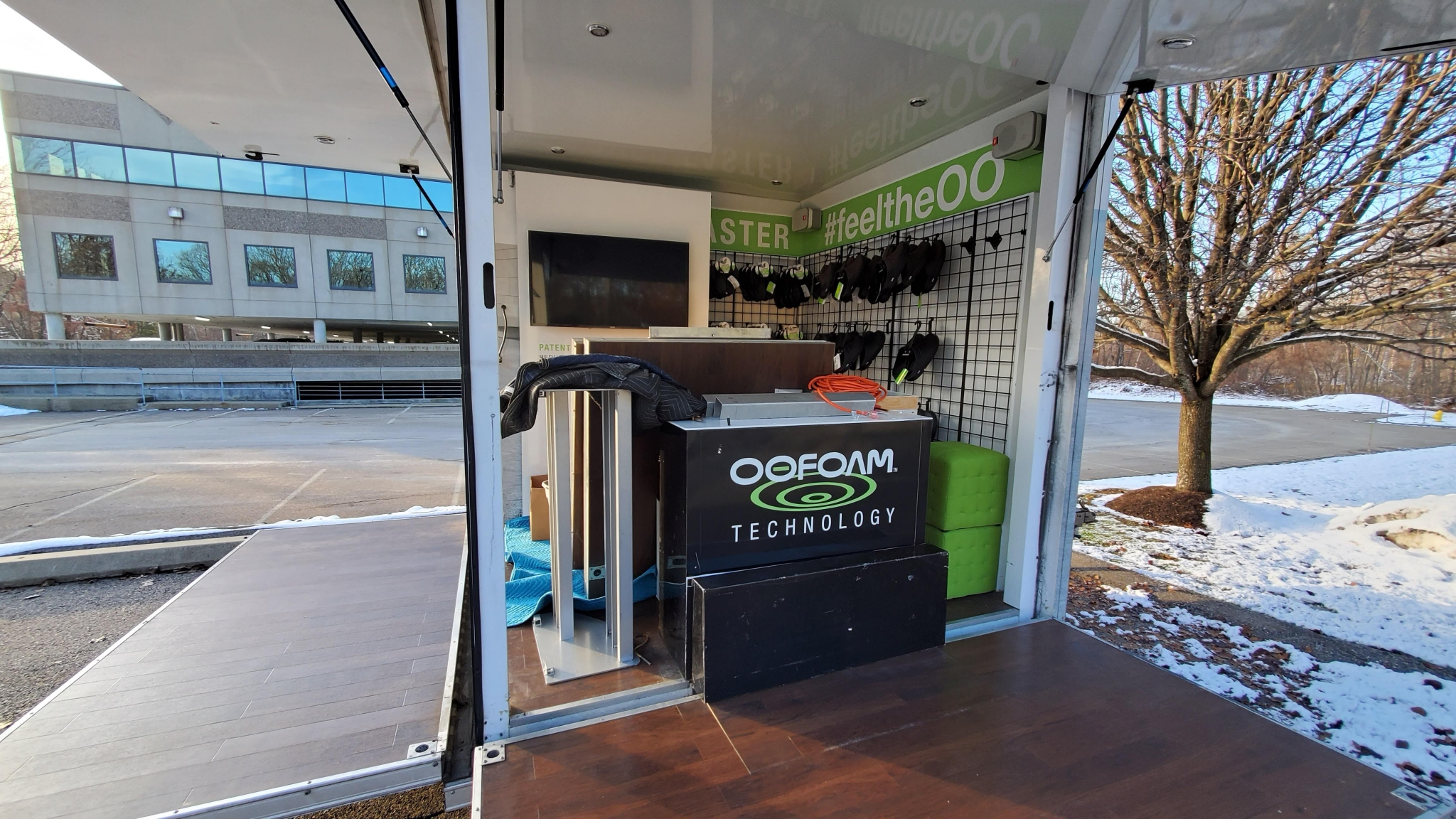 Small Mobile Pop-up Store interior