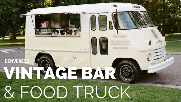 Vintage mobile bar for hire in Denver, Colorado