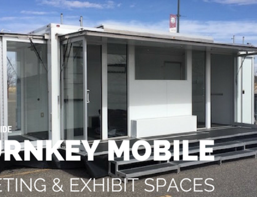 Rent a turnkey mobile showroom, meeting space, or hospitality trailer for your next convention