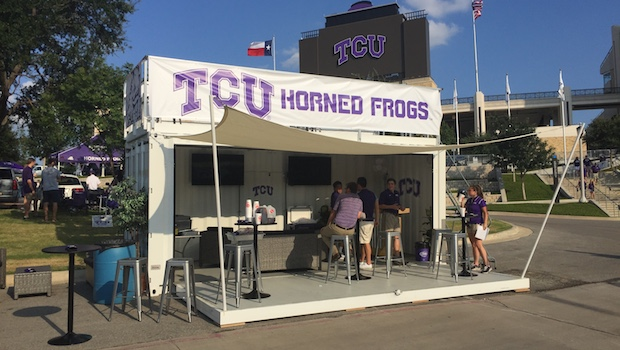 custom shipping container bar for tailgating