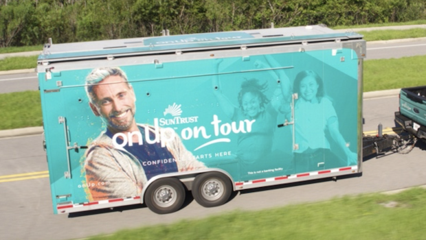 2011 ATC mobile marketing trailer closed highway