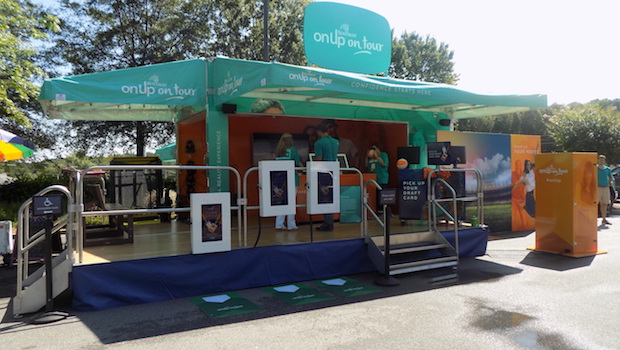 25' ATC mobile stage with wrap around awning
