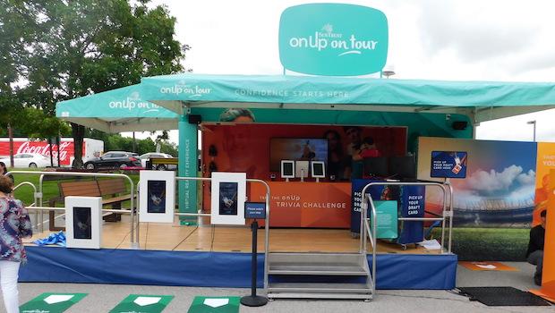 25' mobile marketing wrap around stage tailer