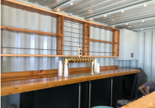 craft beer container bar shelves