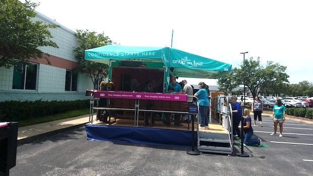 rear stage atc mobile marketing trailer