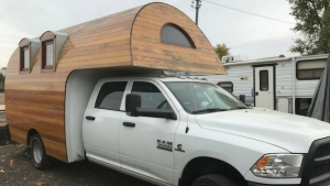 Fashion Truck Wood Camper Shell Marketing Trailers
