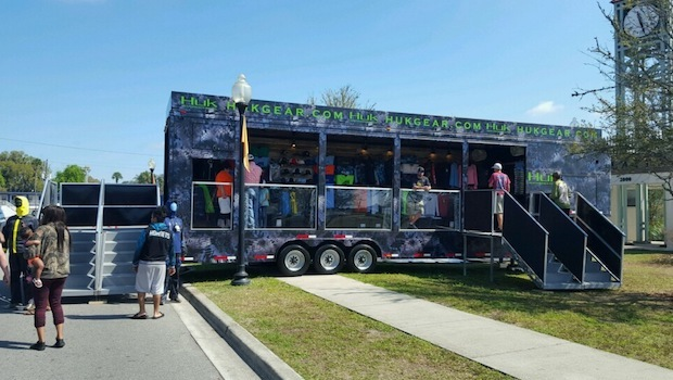 custom merchandising trailer rear entrance