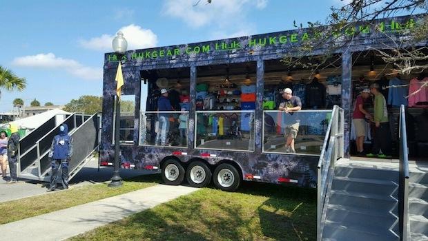 custom merchandising trailer rear