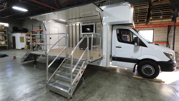 EZ Stage Truck open