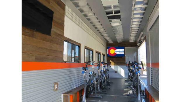 mobile gym trailer windows