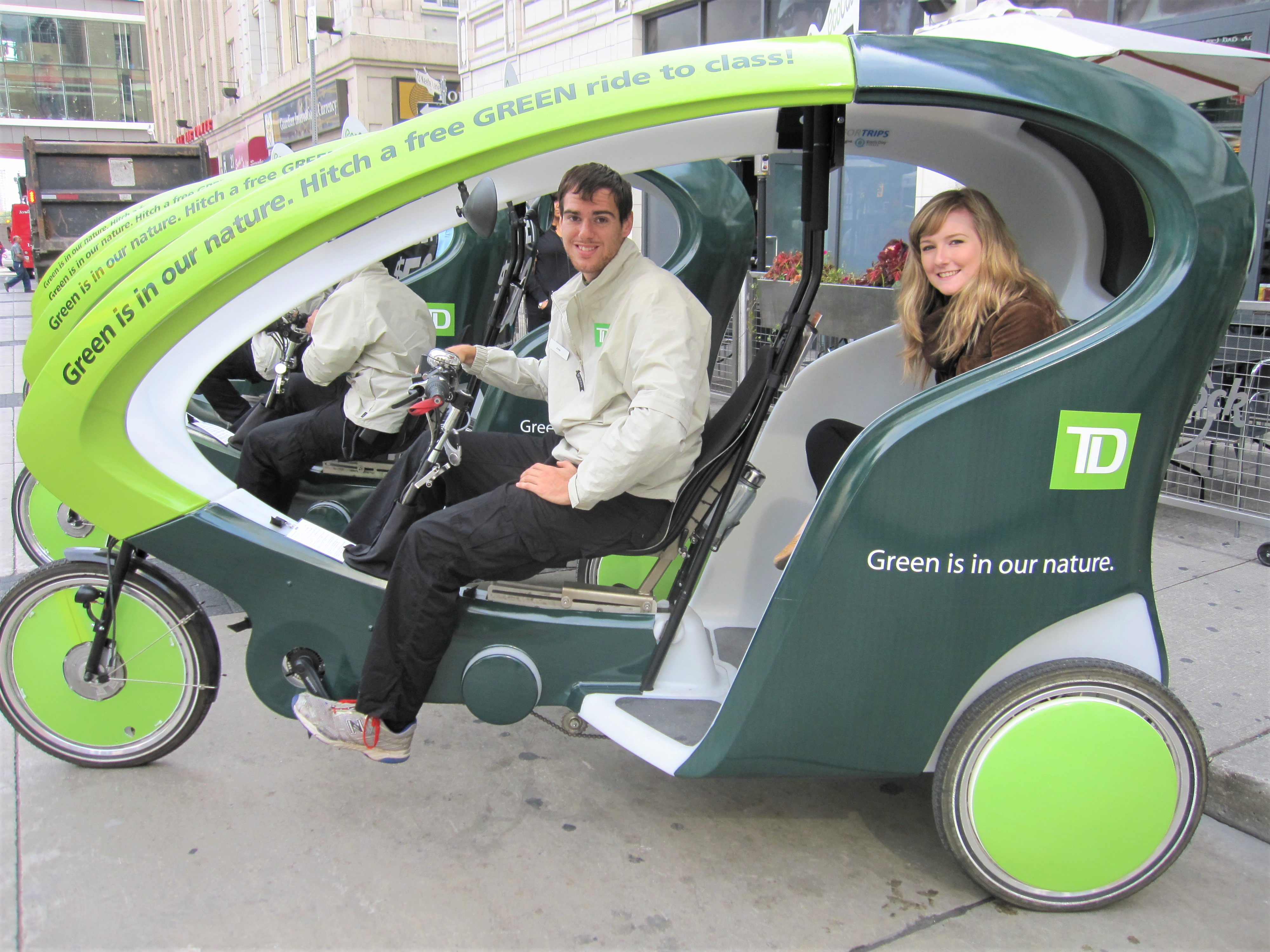 electric pedicab side view