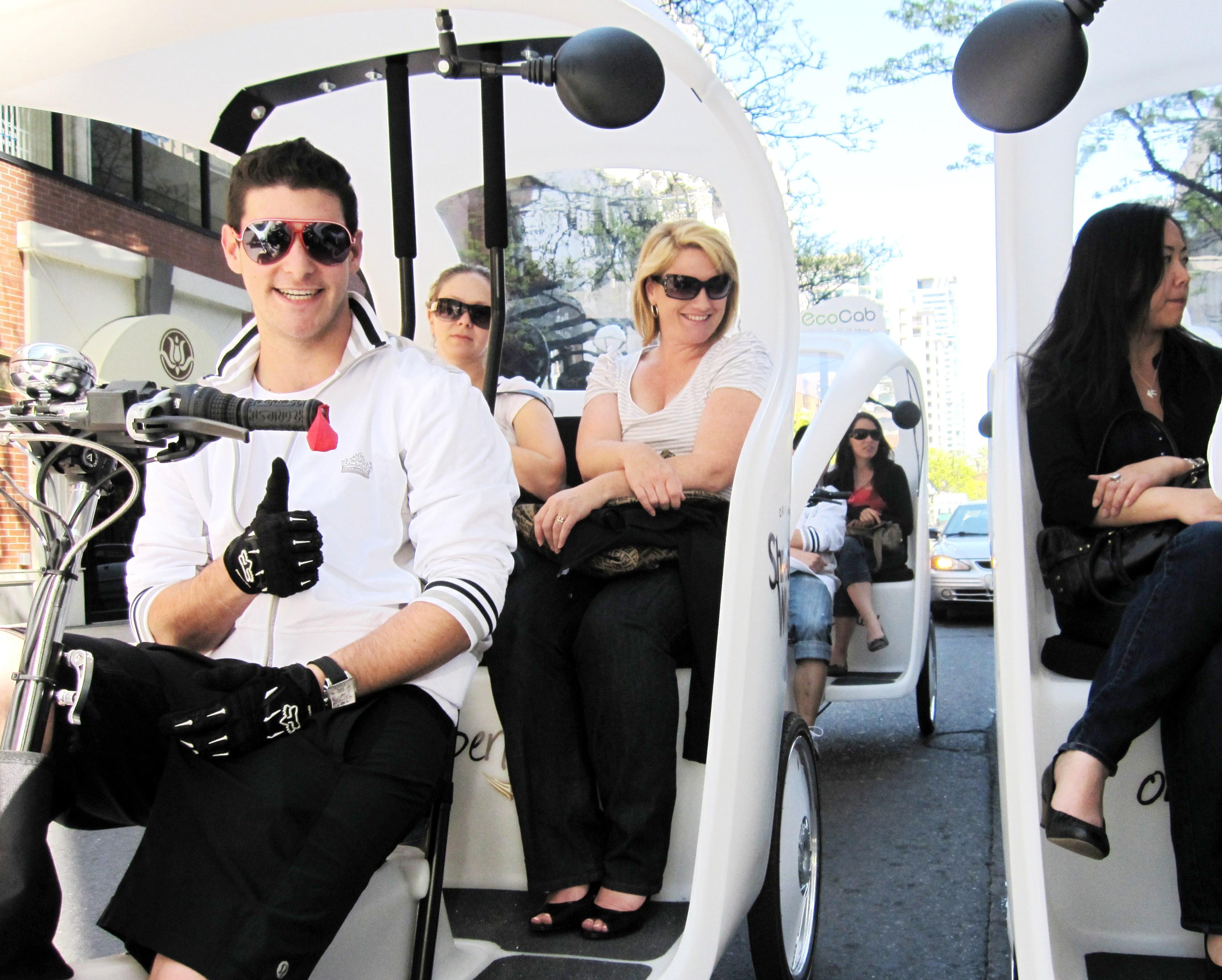 electric pedicab feet passengers