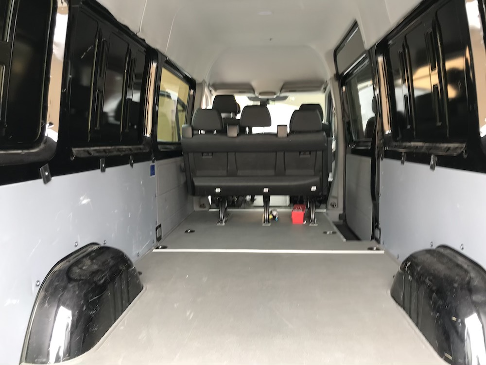 Crew Sprinter interior
