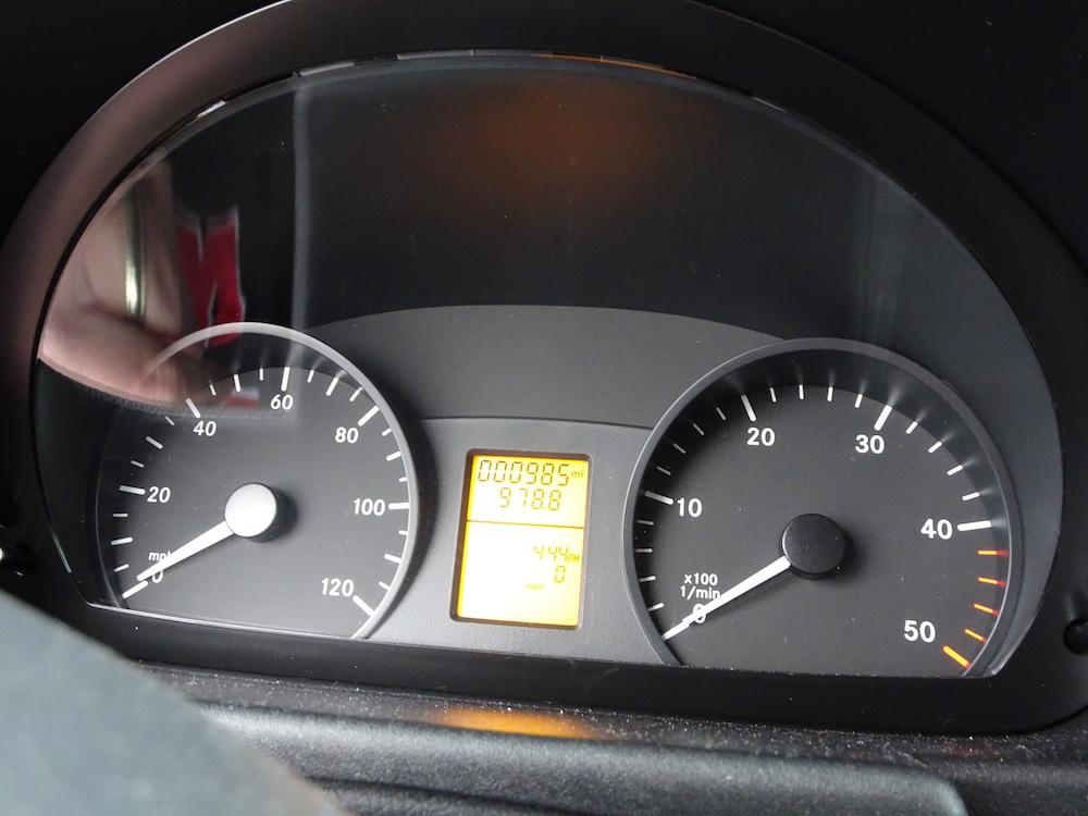 Sprinter Van 2500 odometer
