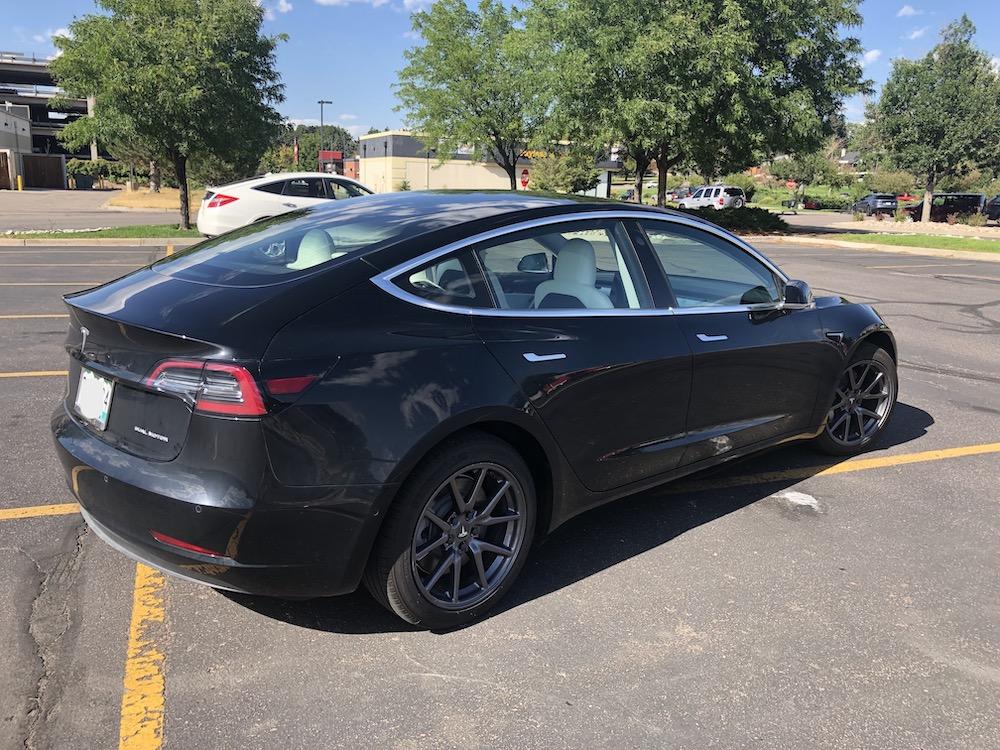 Tesla model 3 for zero emission tour