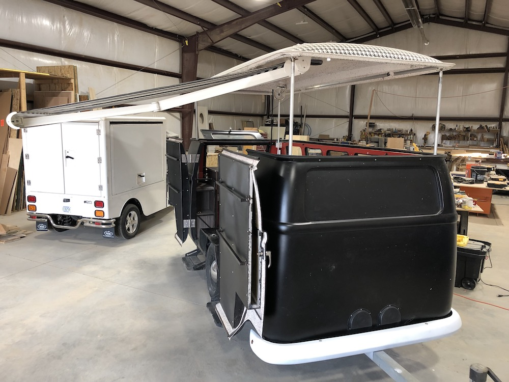 merchandise cart awning side