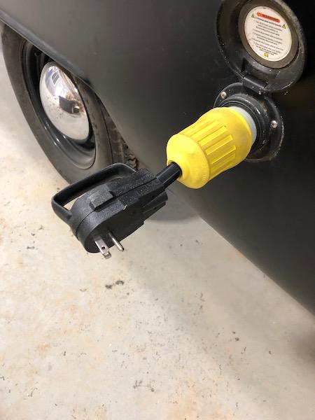 merchandise cart shore power connection