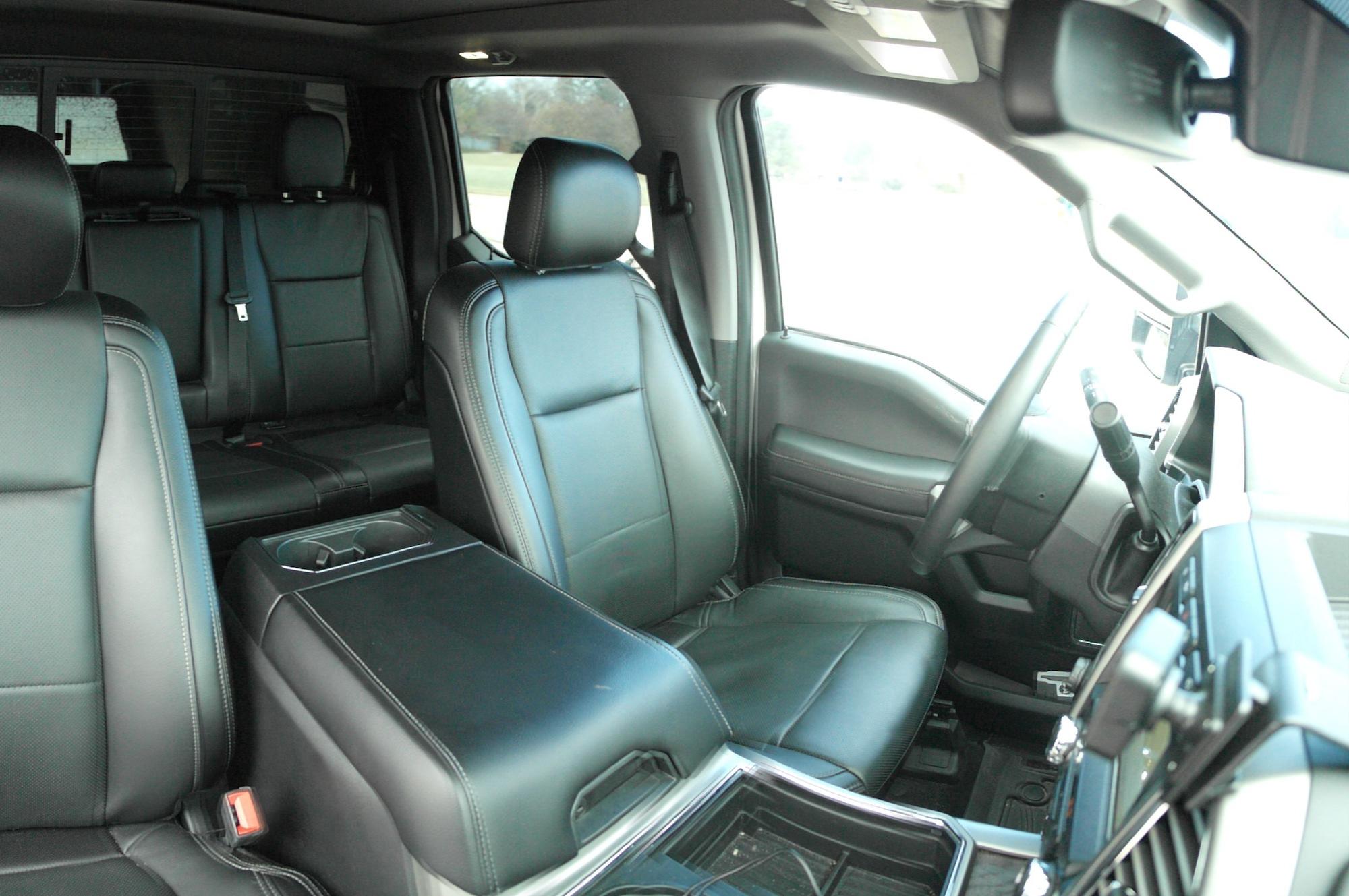 tow vehicle interior