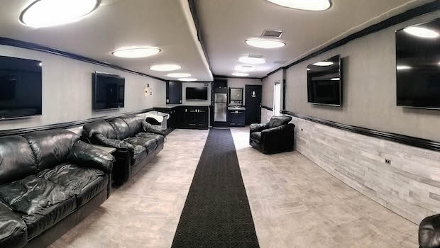 single expandable hospitality event trailer rental