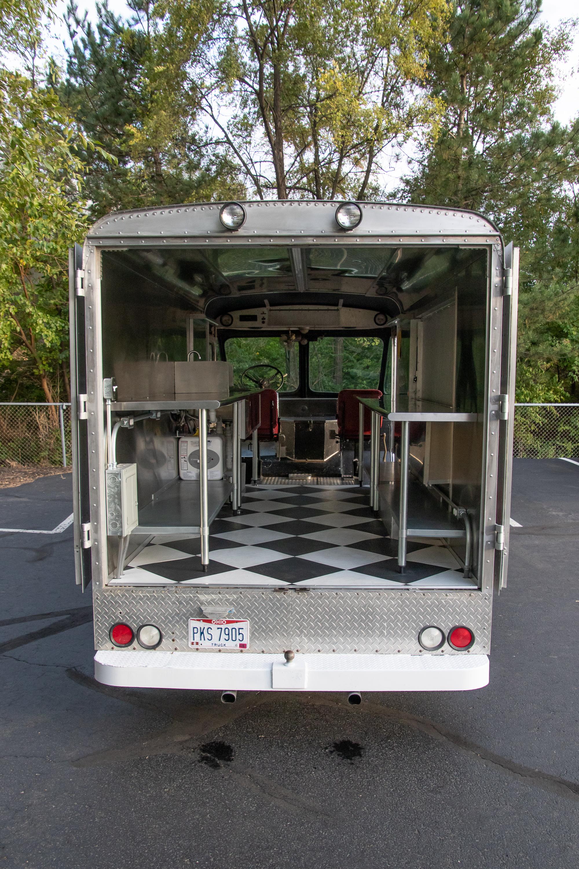 Food Truck Rental rear doors open seeing inside
