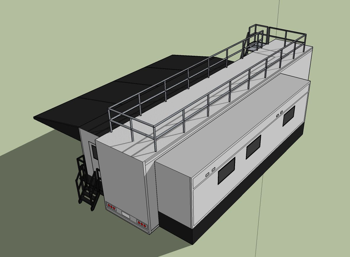 Hospitality Trailer double expandable rendering