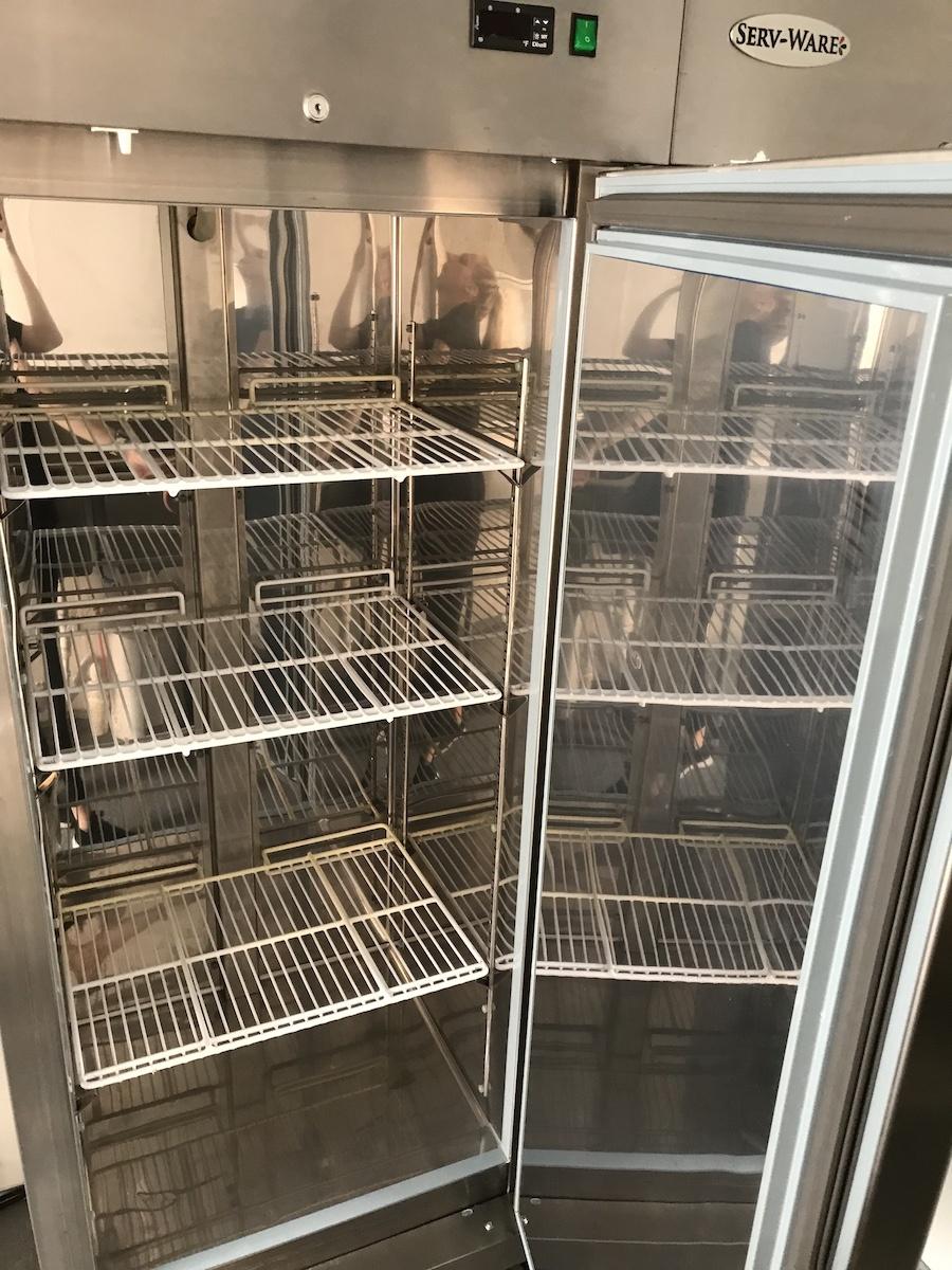 concession trailer refrigerator interior