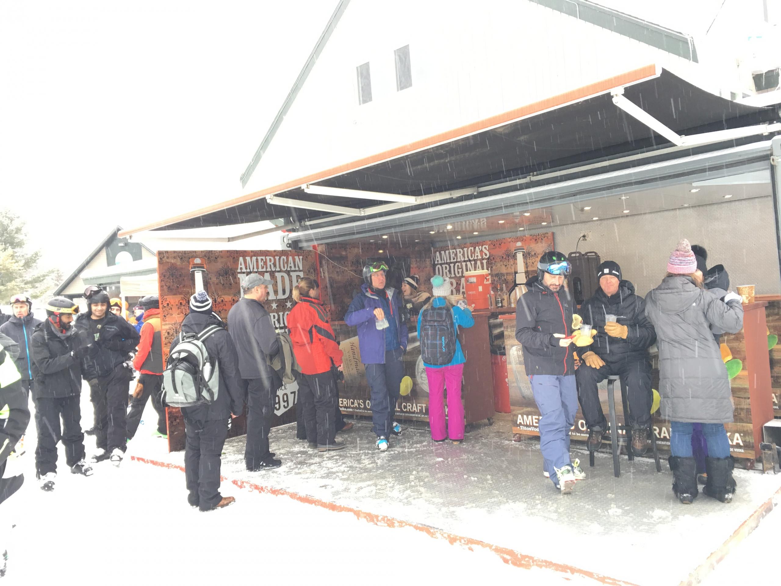 event container ski resort