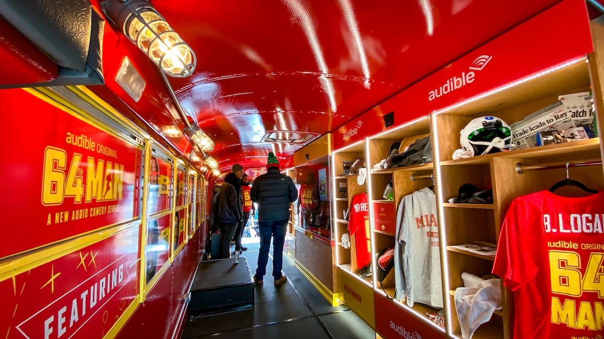 interior converted school bus