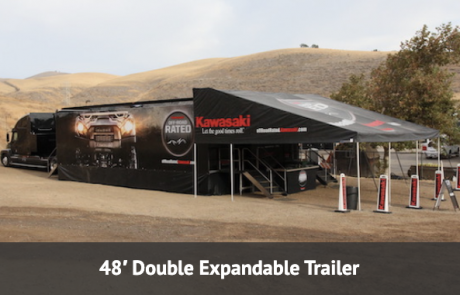 Double expandable trailer available for disaster response