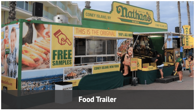 Food trailer and carnival game