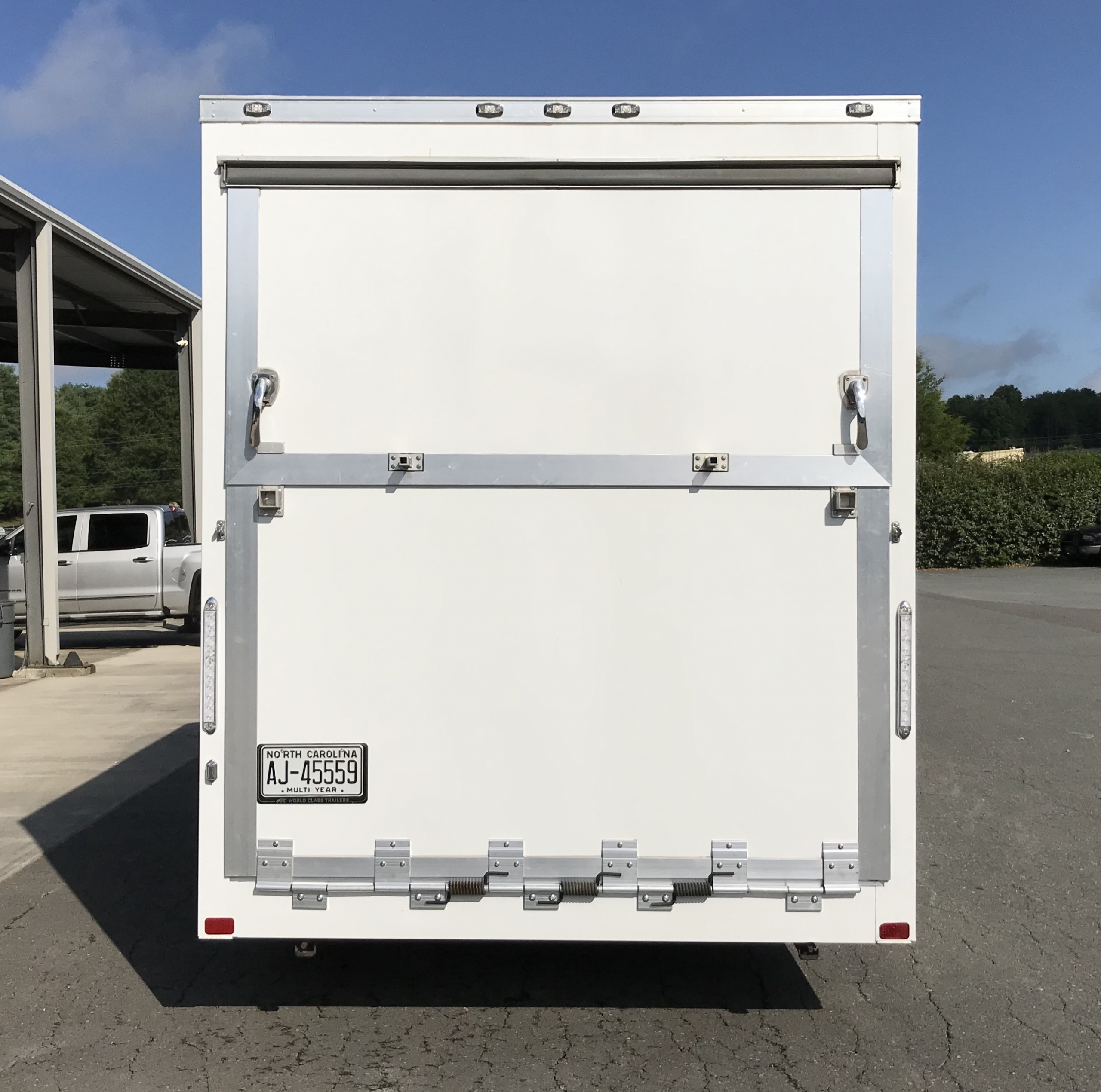 small marketing trailer bifold doors