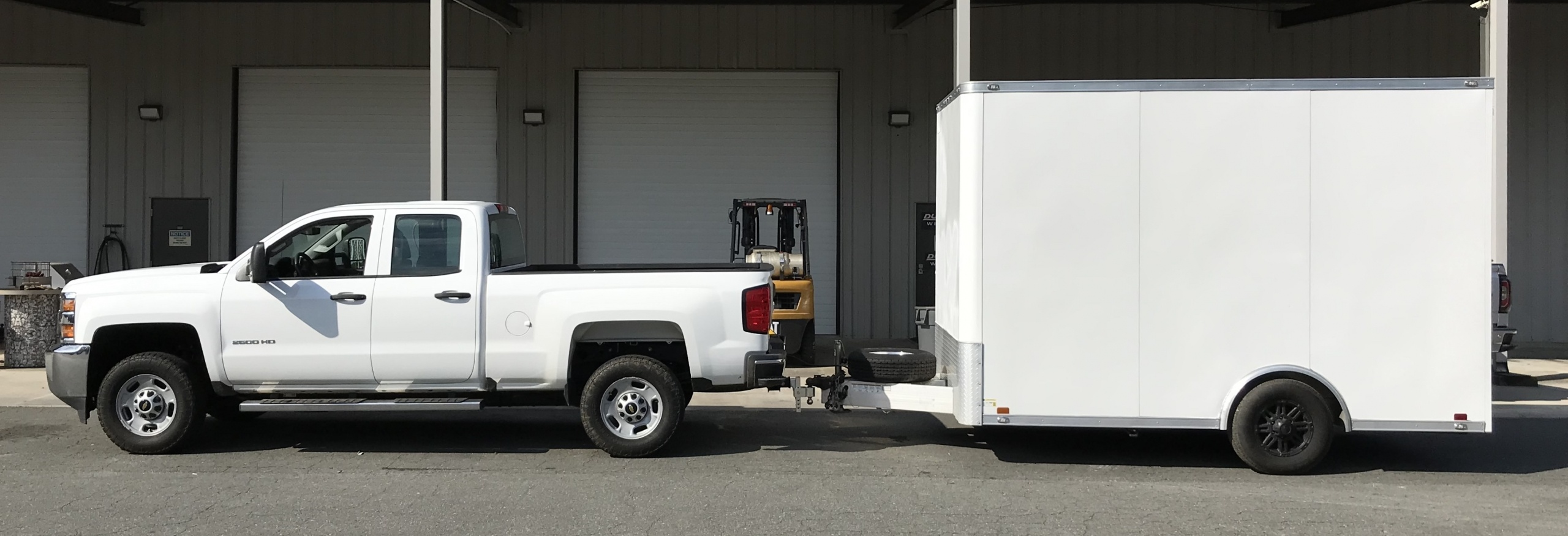 small marketing trailer towing