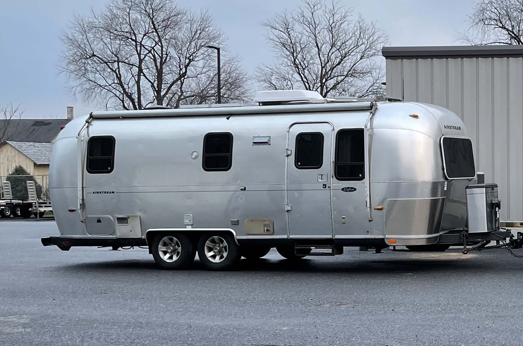 airstream trailer for sale or lease passenger side